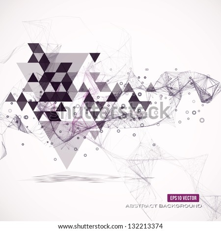 Abstract geometric background. Eps10 Vector illustration - stock vector
