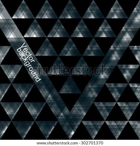 Abstract  geometric background from triangles. Vector illustration. Eps 10  - stock vector