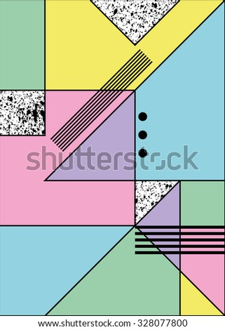 Abstract geometric background in retro modern style, It can be used as seamless pattern 1 - stock vector