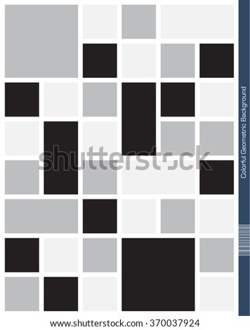 Abstract geometric Background. Mondrian Style. - stock vector