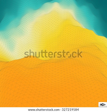 Abstract Geometric Background. Mosaic Vector Illustration. Design Template. Perspective Grid Texture. - stock vector