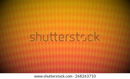Abstract geometric background of rhombuses arranged radially. Yellow and orange colors. Widescreen vector illustration. - stock vector