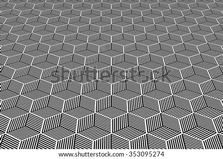 Abstract geometric background. Op art pattern. Vector art. - stock vector