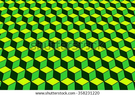 Abstract geometric background. Pattern with optical effect. Vector art. - stock vector