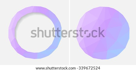 Abstract geometric background .Polygonal background.Vector illustration.
