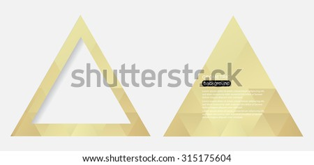 Abstract geometric background.Polygonal triangle background.Vector illustration.