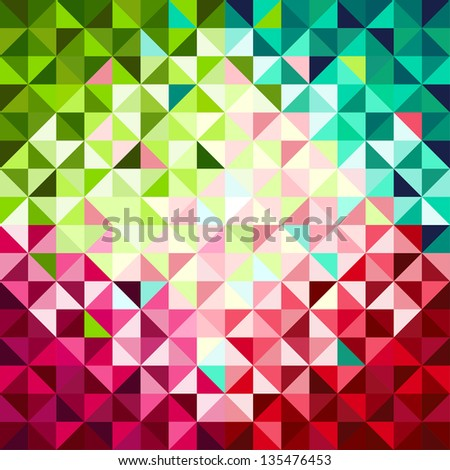 Abstract geometric background, red and green
