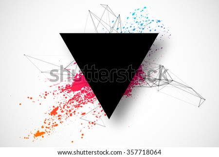 Abstract geometric background technology design low poly vector illustration - stock vector