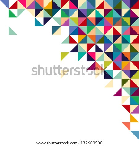 Abstract, geometric background, triangle and square, colorful - stock vector