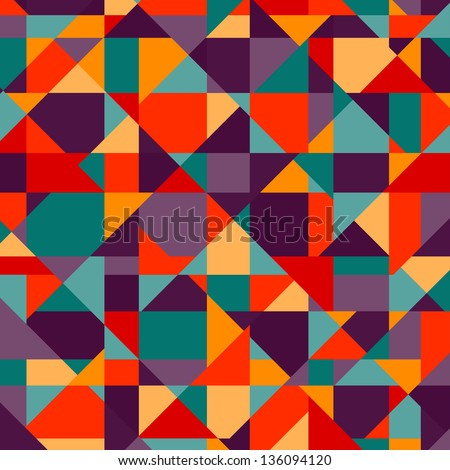 Abstract geometric background - vector - stock vector