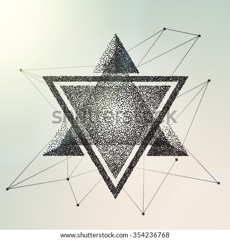 Abstract geometric background. Vector illustration engraving - stock vector