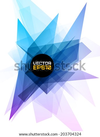 Abstract geometric background. Vector illustration for party flyers, poster, graphic design. - stock vector