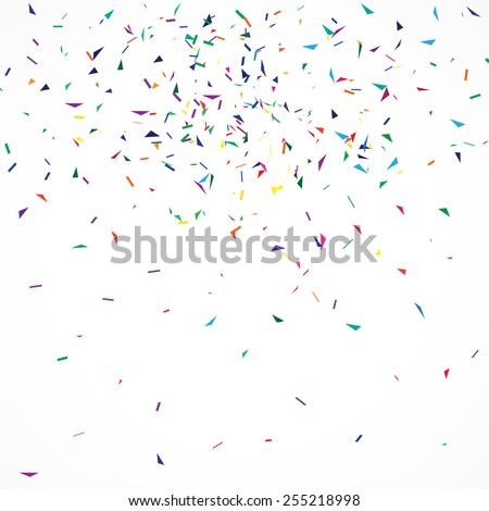 Abstract geometric background with confetti.  - stock vector