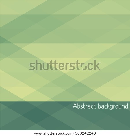Abstract geometric background with green and yellow stripes. Simple vector graphic pattern