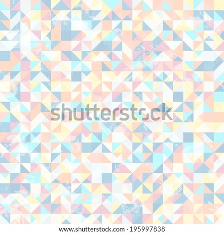 Abstract geometric background with many triangles - stock vector