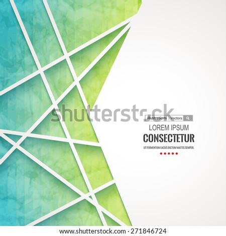 Abstract geometric background with polygons. Info graphics composition with geometric shapes.Retro label design. Vector illustration for business presentation. - stock vector