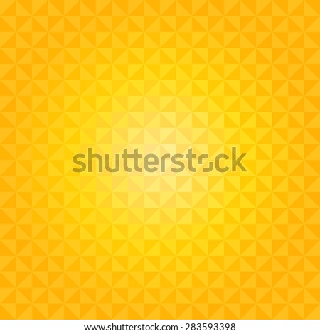 Abstract geometric background with pure yellow color tones - stock vector