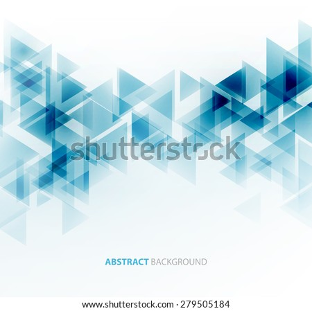 Abstract geometric background with transparent triangles. Vector illustration. Brochure design - stock vector