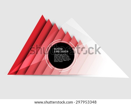 abstract geometric background with triangles - stock vector