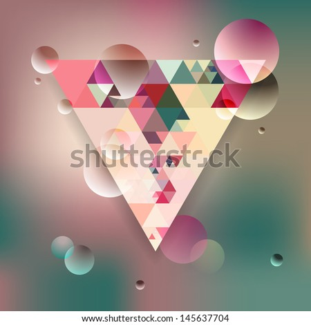 Abstract geometric background with triangles. Vector illustration EPS10. - stock vector