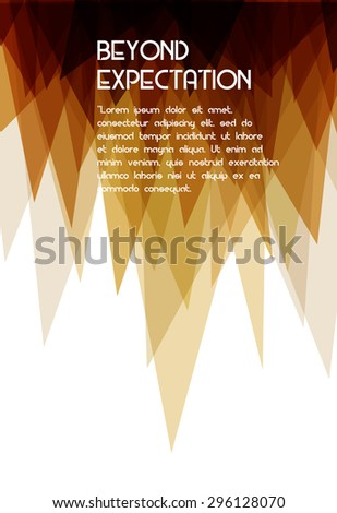 abstract  geometric background with triangles with Cloud computing technology  - stock vector