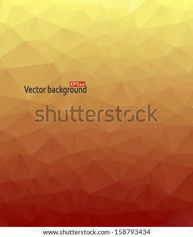 Abstract geometric background with triangular polygons. - stock vector