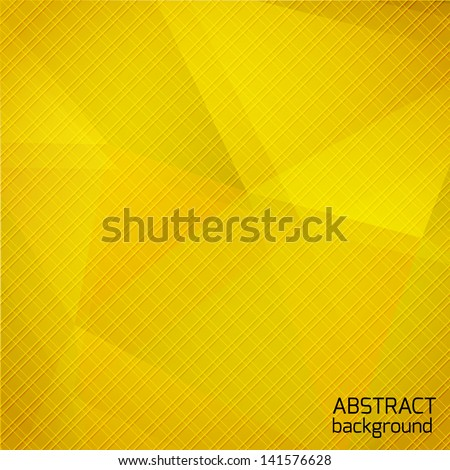 Abstract geometric background.  Yellow design. Vector illustration. - stock vector