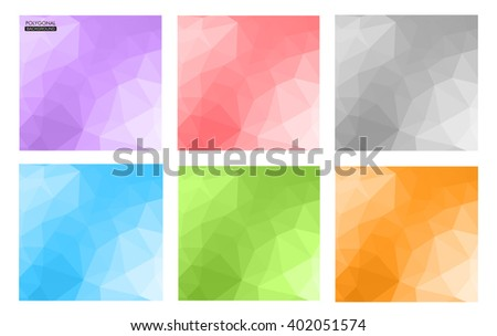 Abstract geometric backgrounds.Polygonal backgrounds.Vector illustration.