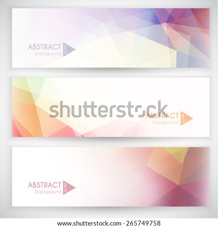 Abstract geometric banners collection - eps10 - stock vector