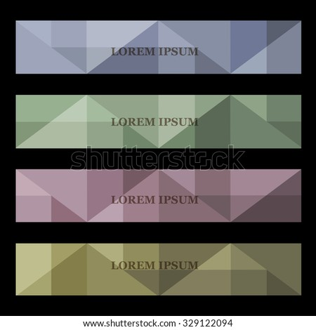 Abstract geometric banners. Vector set - stock vector