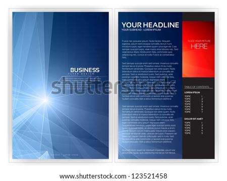 Abstract Geometric Brochure Layout | EPS10 Editable Design - stock vector