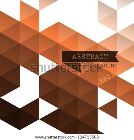 Abstract geometric brown background for design - stock vector