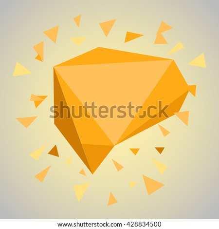 Abstract geometric color cloud. Template for a content. Vector blank box copy-space - stock vector