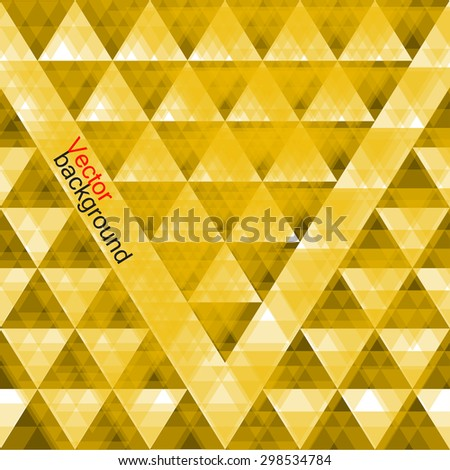 Abstract  geometric colorful background from triangles. Vector illustration. Eps 10 - stock vector