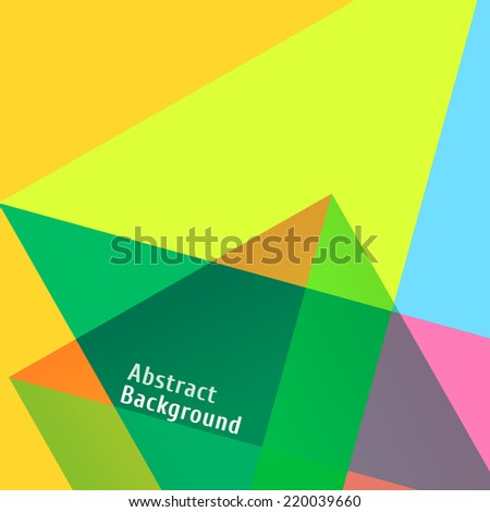 Abstract Geometric Colorful Background Template. Vector Illustration - stock vector