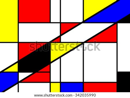 abstract geometric colorful vector pattern - stock vector