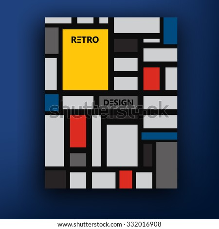 Retro Brochure Booklet Cover Design Templates Illustration – Retro Brochure Template