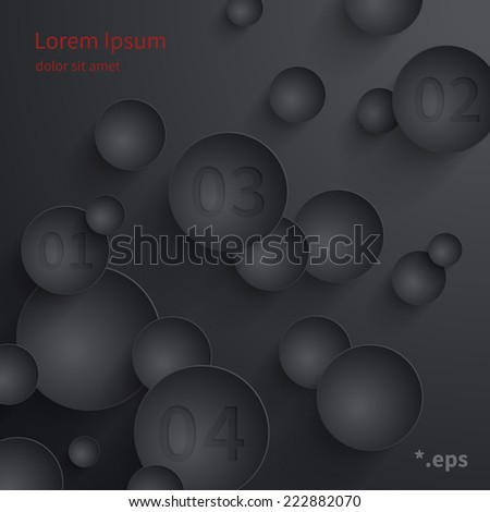 Abstract geometric composition. Eps vector template.