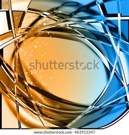 Abstract geometric cool glass background. Purity contrast vector frame