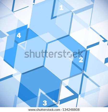 Abstract geometric design template - stock vector