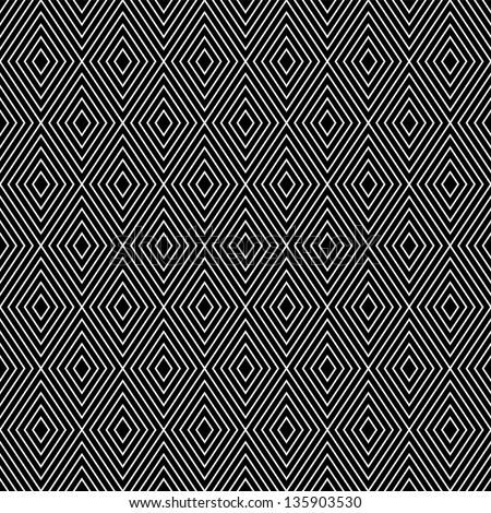 Abstract Geometric Diamond Shape Seamless Pattern Stock ...