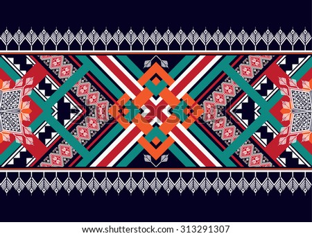 Abstract geometric ethnic pattern seamless design for background or wallpaper.