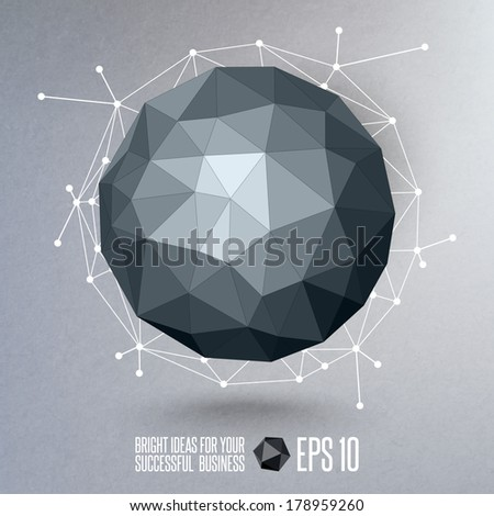 Abstract geometric form - stock vector