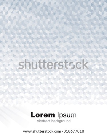 Abstract geometric gray or silver background. - stock vector