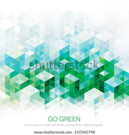 Abstract geometric green urban background. Vector.  - stock vector