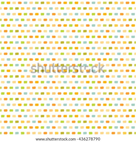 Abstract geometric hand drawn pattern. Vector light colorful seamless pattern. - stock vector