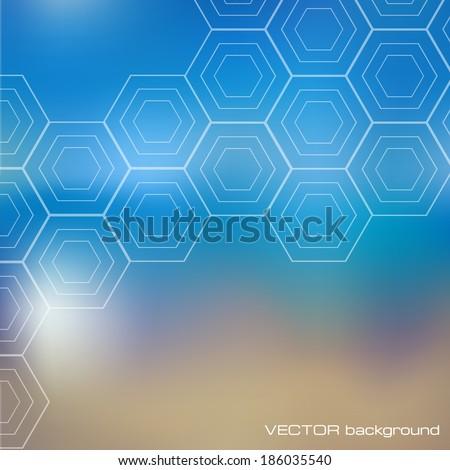 abstract geometric hexagon background. Vector illustration. - stock vector