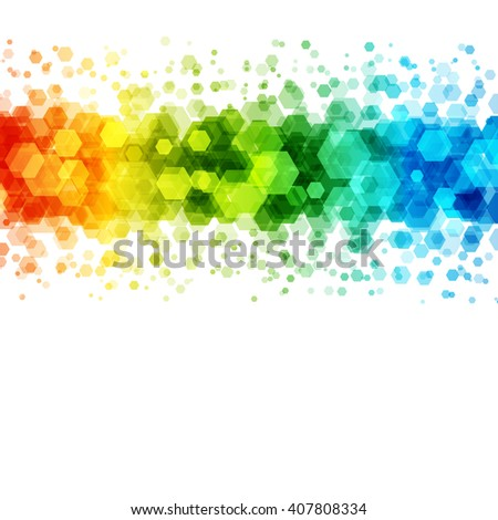 Abstract geometric hexagon vector background. Good for promotion materials, brochures, banners. Abstract Backdrop, Technology Background. - stock vector