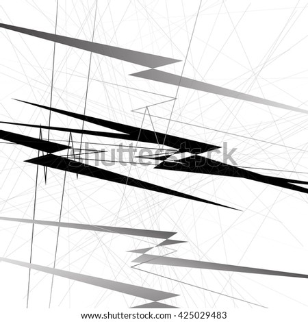 Abstract geometric illustration. Monochrome geometric shapes. Grayscale.