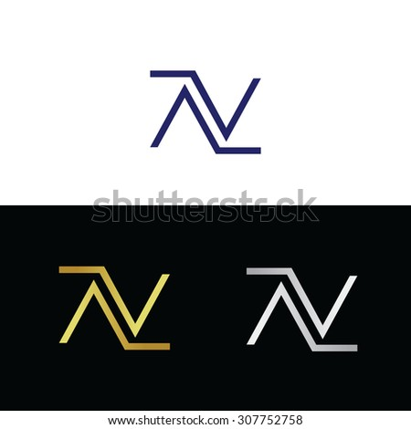 Abstract, geometric italic letter N